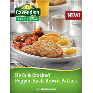 Herb & Cracked Pepper Hash Brown Sell Sheet