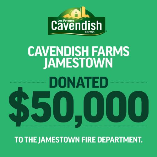 Cavendish Farms Donates $50,000 to the Jamestown Fire Department